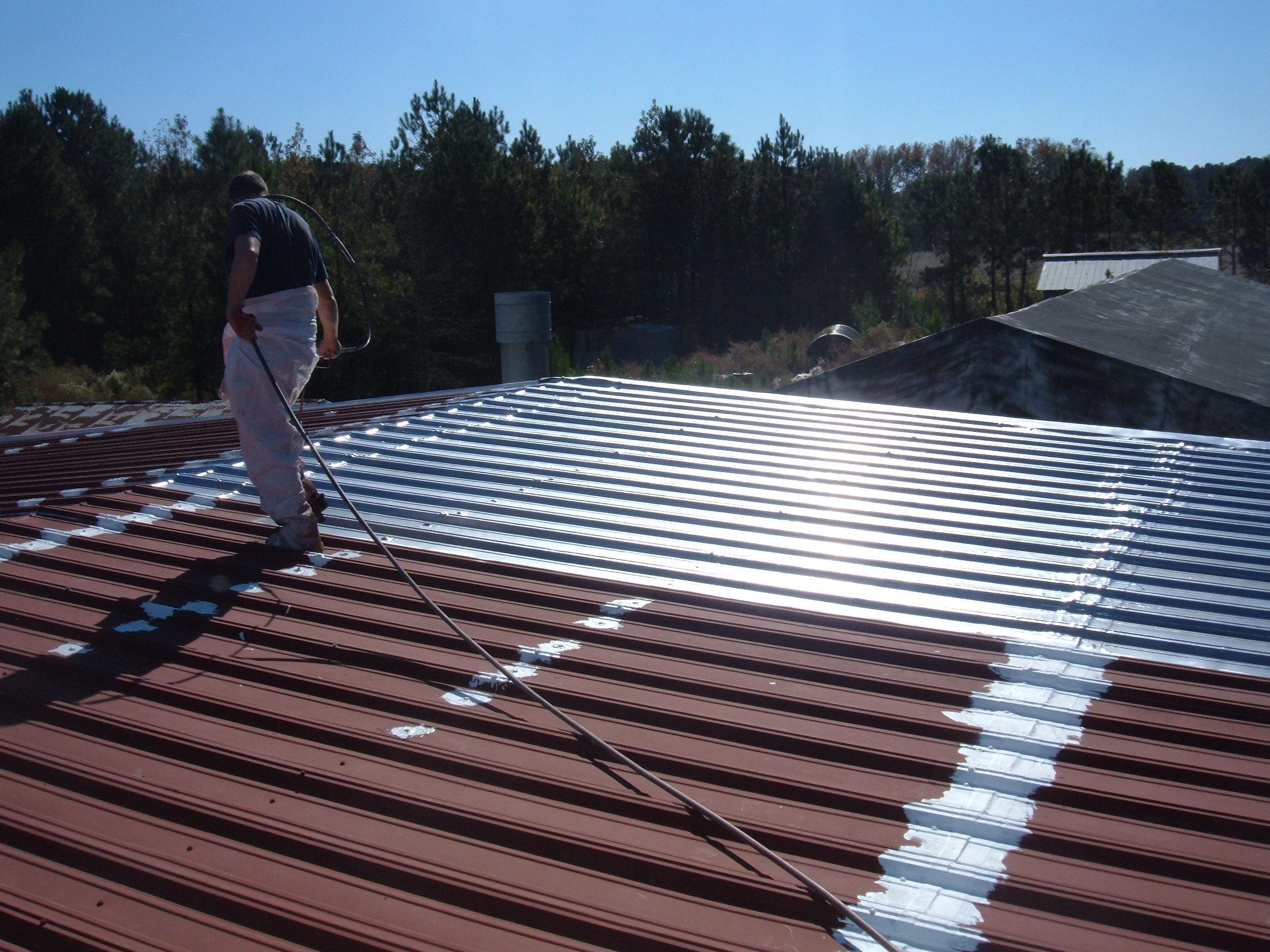 Roof coating sprayer