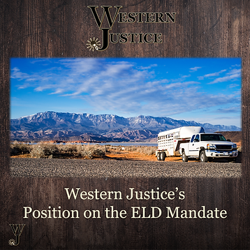 Western Justice's Postion On The ELD Man