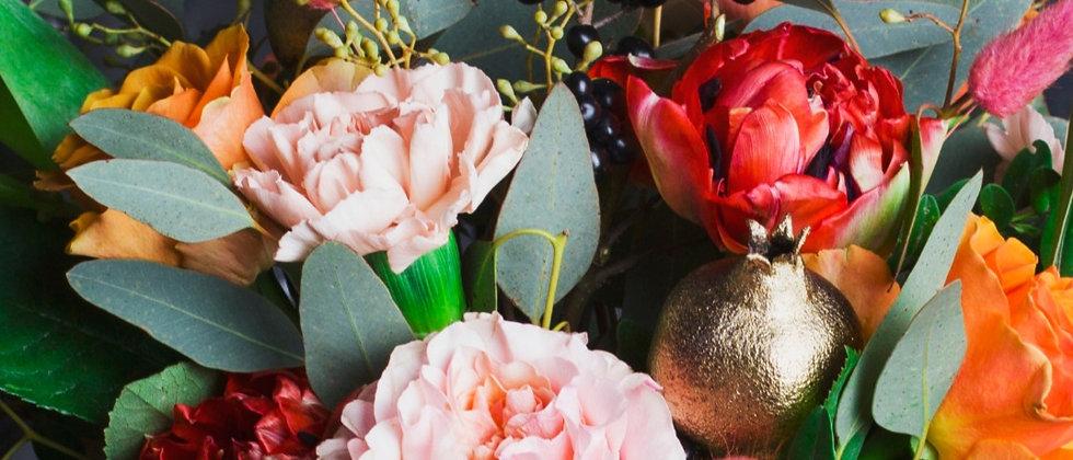 Five Inch Round Seasonal Vase