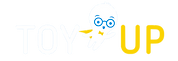 ToyUp logo and mascot