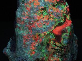Really caleidoscopic rock from Australia (Puttapa zinc mine)