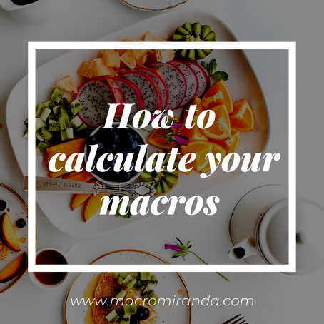 HOW TO CALCULATE YOUR MACROS