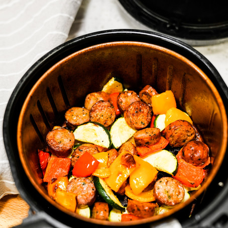 AIR FRYER CHICKEN SAUSAGE AND VEGGIES