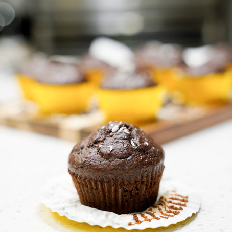 CHOCOLATE COCONUT PROTEIN MUFFINS