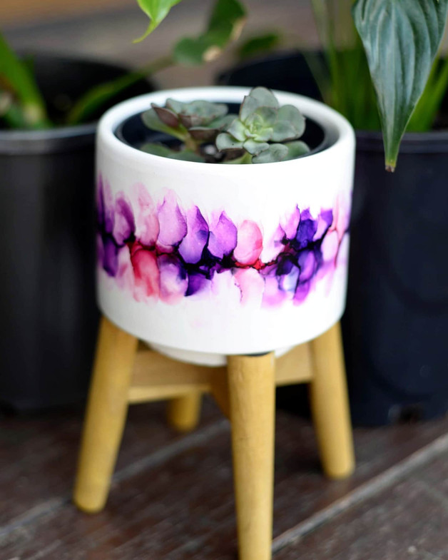 Tulip Fields Plant Pot
