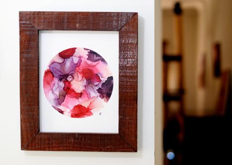 Rose Circle Design Framed Print