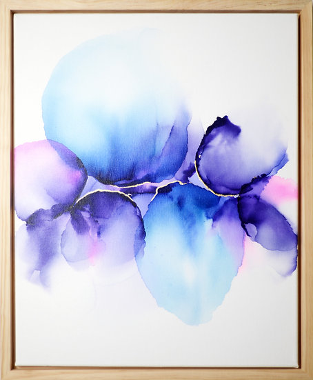 Awaiting Blooms - Framed Original Artwork - 44x54cm