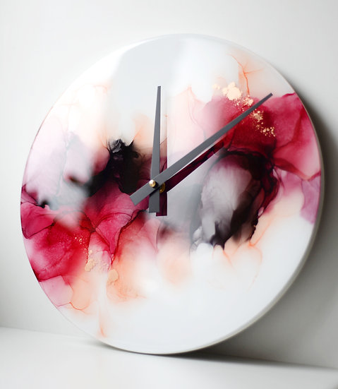 Fire & Flame - 30cm Resin Wall Clock