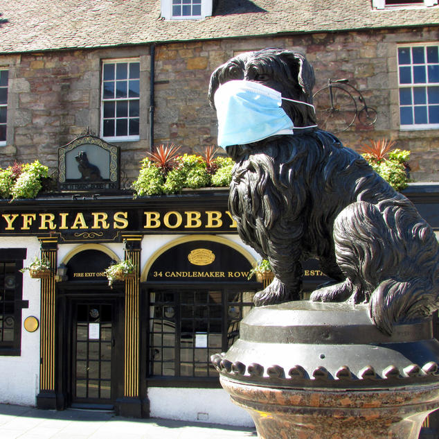 'Greyfriars Bobby with Mask' by David Pickering
