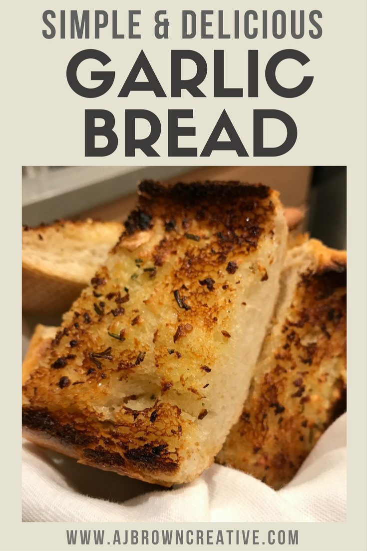 Simple and delicious garlic bread recipe