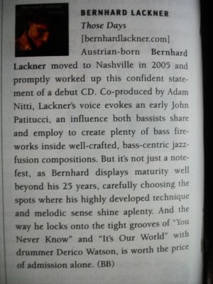 Bass Player Mag 2006