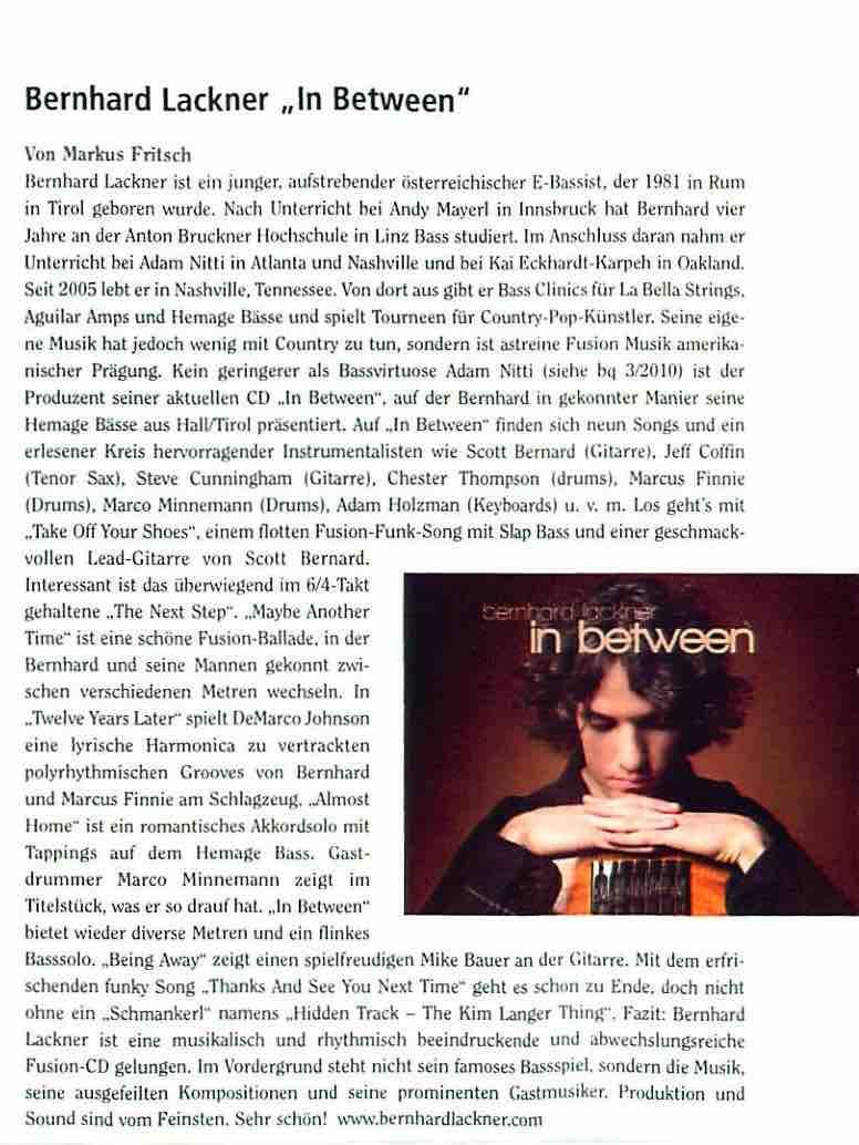 Bass Quarterly Mag 2009