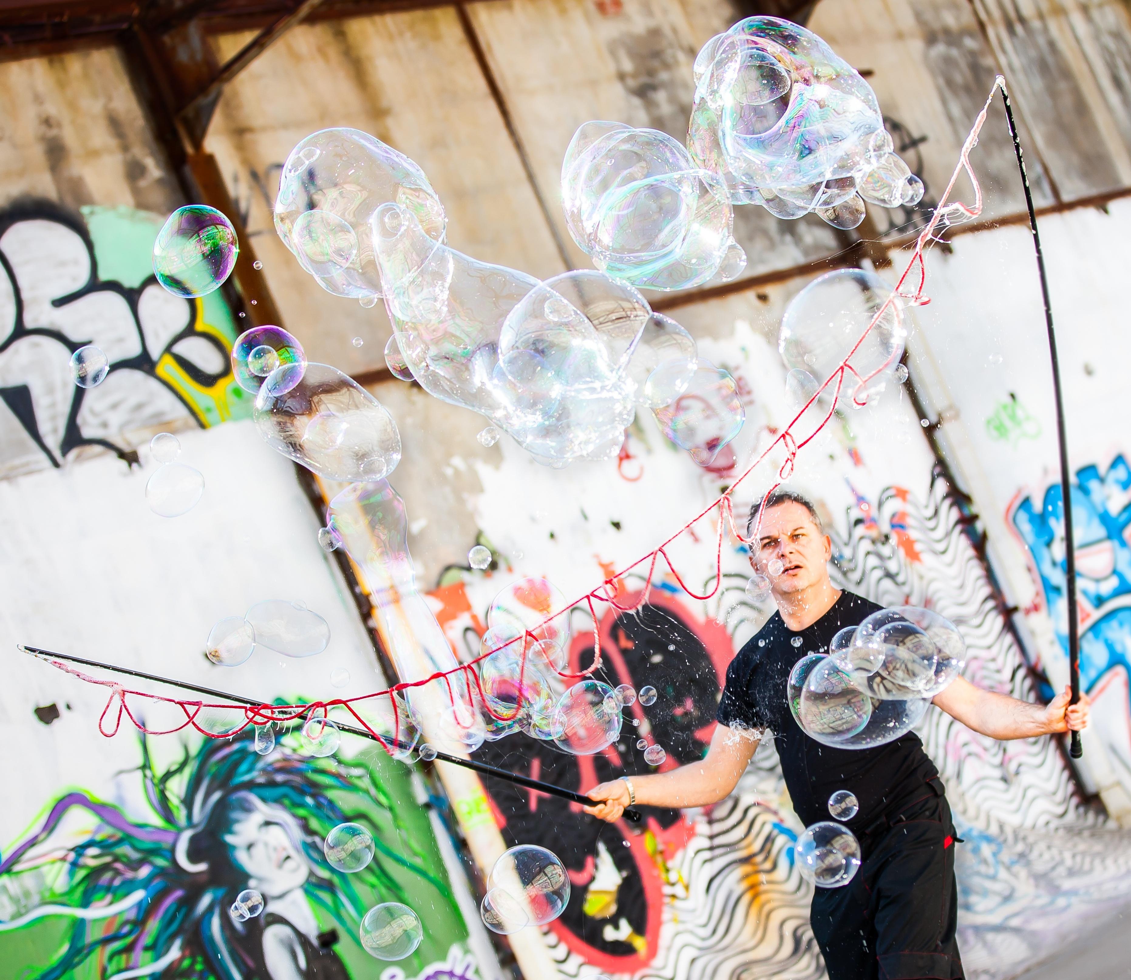 Multi bubble street art