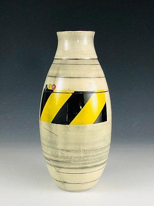 Caution Oval Bud Vase