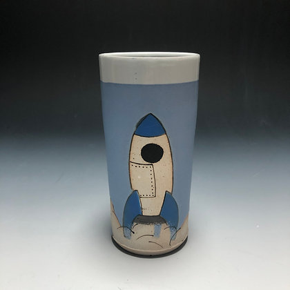 Blue Rocket Tumbler