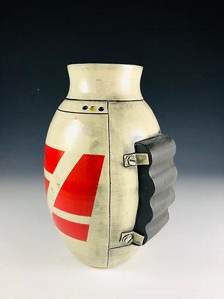 Red Shuttle Vase with PowerPak