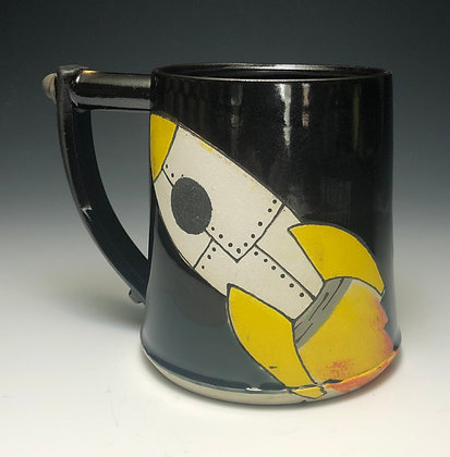 Rocket Mug Yellow