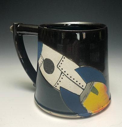 Rocket Mug Blue