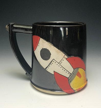 Rocket Mug Red