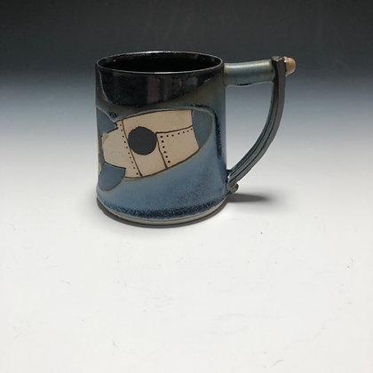 Blue Rocket Mug