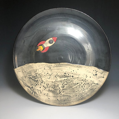 Rocket Platter with Moon Scape