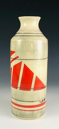 Red Cylinder Bud vase
