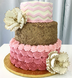 chevron and rosettes cake.jpg