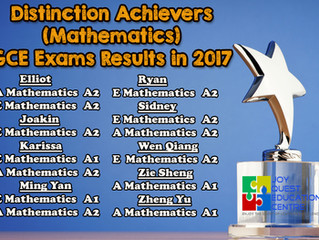JQ Students' Performance in GCE 'O' level 2017! Our Distinction Achievers have doubled!
