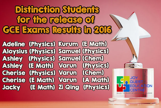 GCE 'O' level Results 2016   Physics and Math Tuition Amk   560422