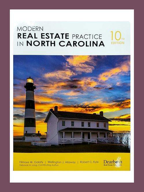 Modern Real Estate Practices in North Carolina, 10th Edition
