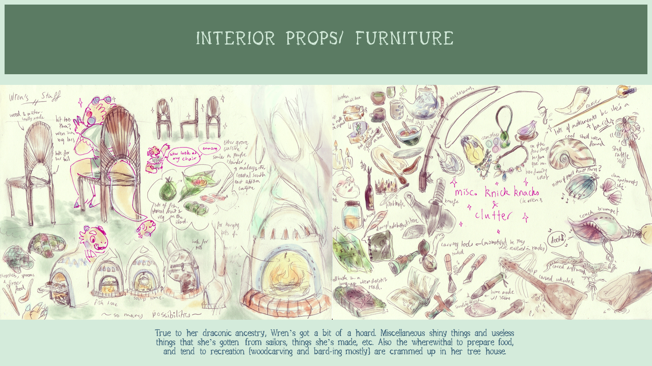 THE ETHER GROVE: interior prop designs