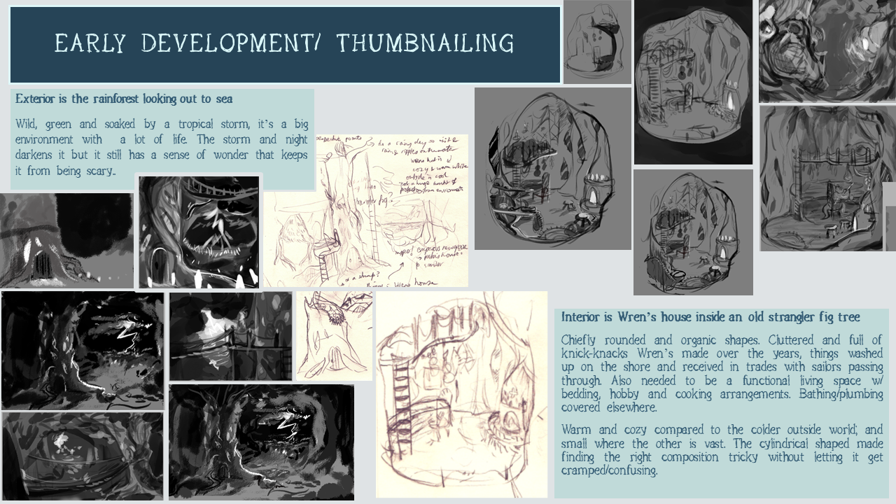 THE ETHER GROVE: early dev and thumbnailing