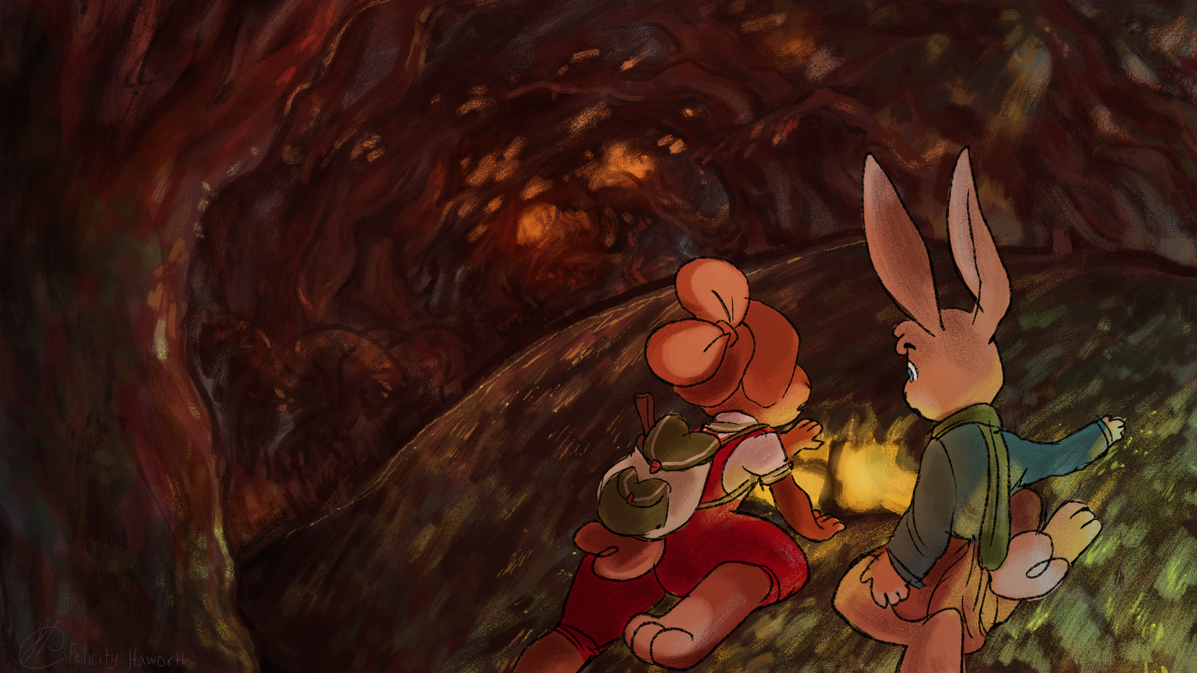 FLOPSY & RABBIT: outside the foxhole