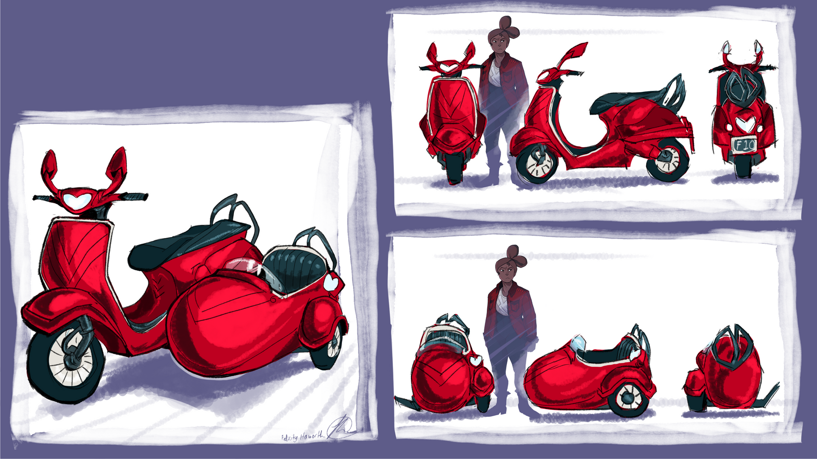 BUNNIES CAN BITE: Florentine's scooter