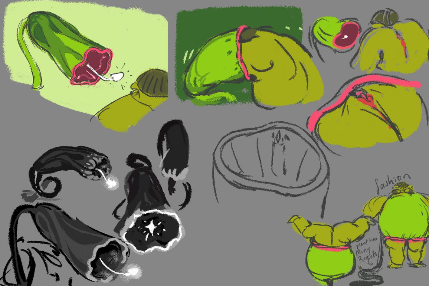 FRAGILE: plant concept sketches