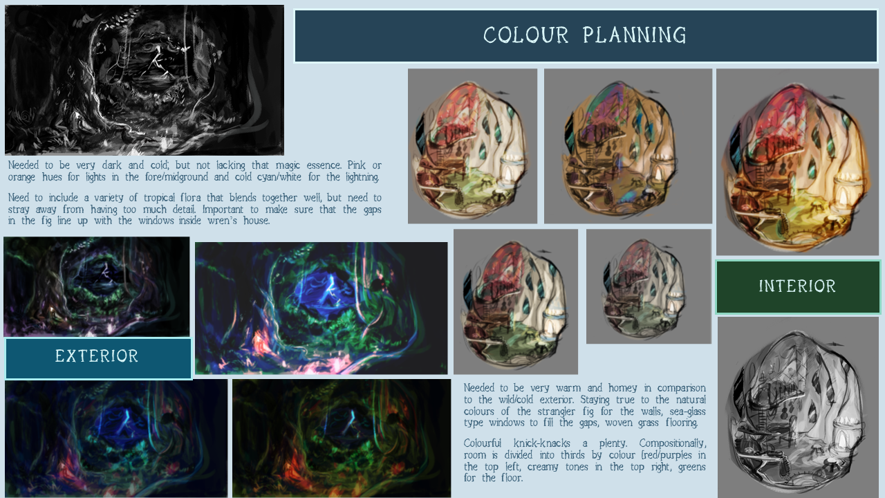 THE ETHER GROVE: colour planning