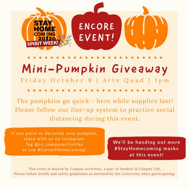 Pumpkin Giveaway ENCORE!