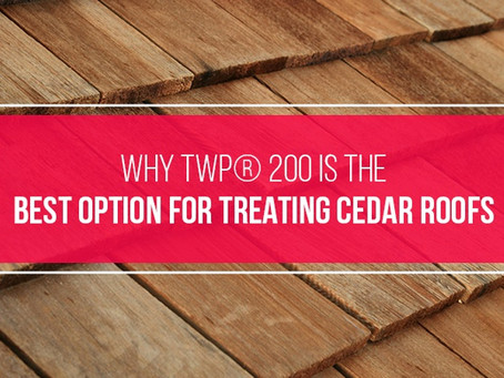 Why TWP® 200 Is the Best Option for Treating Cedar Roofs