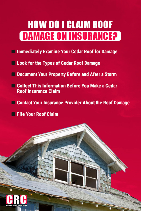 How do I claim roof damage on insurance?