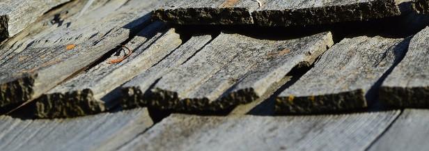 Curling cedar roof