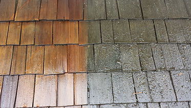 cedar roof before and after