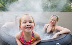 Relax with Family in a hot pool