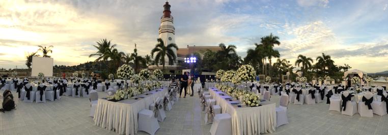 Lighthouse Banquet Wedding Setup