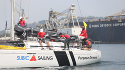 Sailing inside the former US Naval Base - Subic Bay Freeport Zone