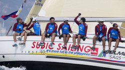 Subic Sailing Team representing the Philippines at the China Cup International Regatta.