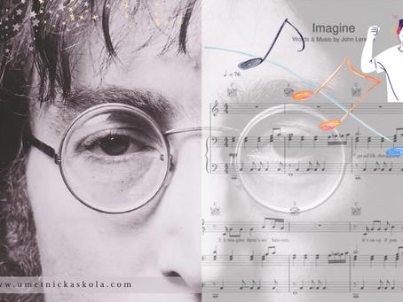 """Pesma """"Imagine"""" + note za klavir"""