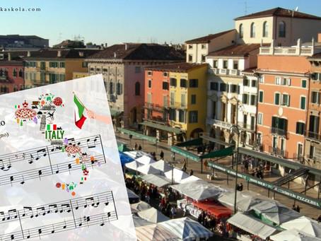L'italiano, Lasciatemi cantare + note za klavir