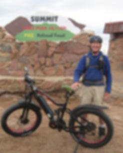 First E-Bike to top of Pikes Peak Rocke Mountain Bike