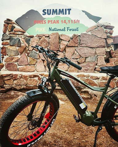 E-Bike Race to top of Pikes Peak, Rocke Mountain Bike, Caitlin Murphy 2nd place winner