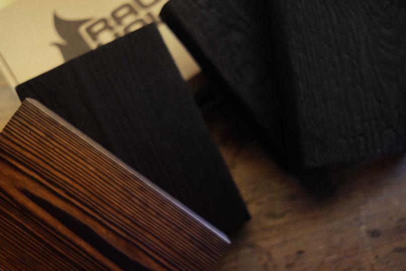 musterbox rauchholz karbonisierte fassaden shou sugi ban from germany